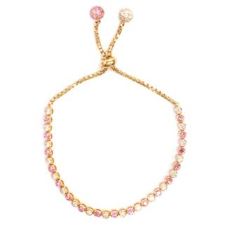 Bespoke Rose Gold Pink Sapphire and Diamond Bracelet
