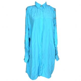 Versace turquoise shirt dress