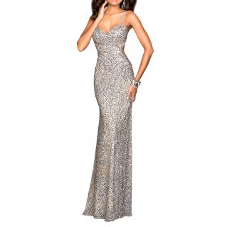 Scala Silver Evening Dress