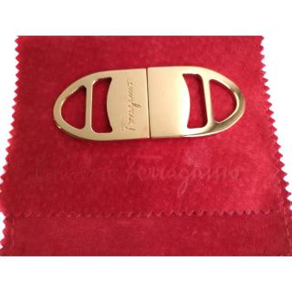 Ferragamo Gold Metal Belt / Scarf Buckle