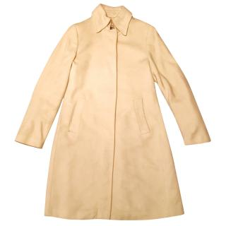 Burberry Cream wool tailored coat