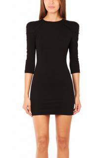 PIERRE BALMAIN Black Studded and Crystal Embellished Mini Dress
