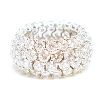 Bespoke White Gold Diamond Bombay Ring
