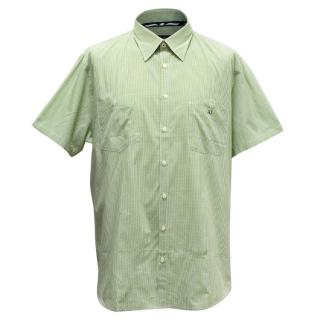 Armani Jeans Men's Green Checked Shirt