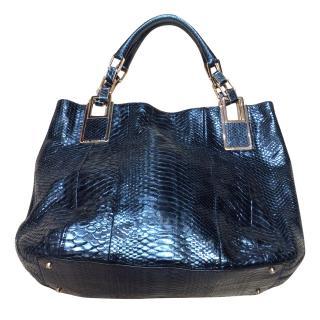 Anya Hindmarsh Snakeskin Shoulder Bag