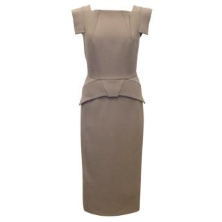 RM by Roland Mouret Taupe Pigalle Dress