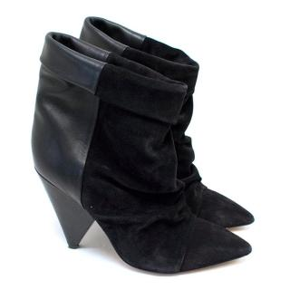 Isabel Marant Black Suede 'Andrew' Ankle Boots