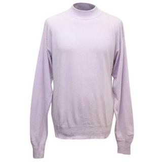 Richard James Savile Row Men's Light Purple Jumper