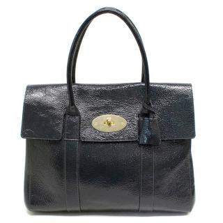 Mulberry Dark Grey Patent Bayswater Bag