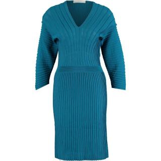 Pringle Of Scotland Teal Ribbed Dress