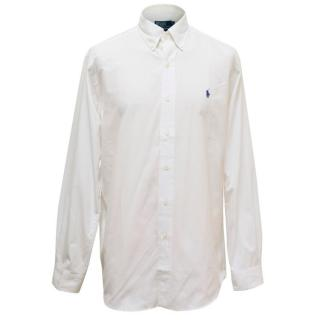 Polo by Ralph Lauren Custom Fit Mens White Shirt