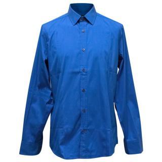 Gucci Men's Blue Button Up Shirt