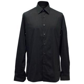 Prada Men's Black Button Up Shirt
