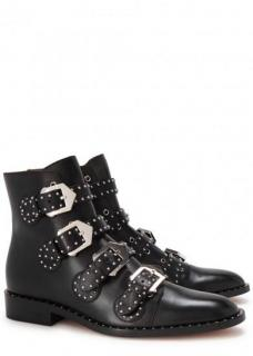 Givenchy Black studded leather ankle boots
