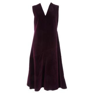 Carven Sleeveless Velvet Dress