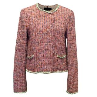 D&G Multicoloured Tweed Jacket with Chain Detail