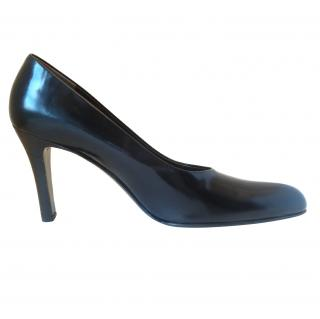 Bruno Magli Black Leather Court Shoes