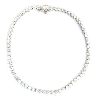 Bespoke White Gold Diamond Tennis Bracelet