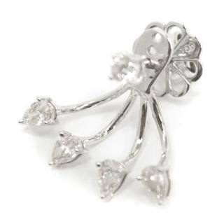 Bespoke White Gold Diamond Claw Earrings