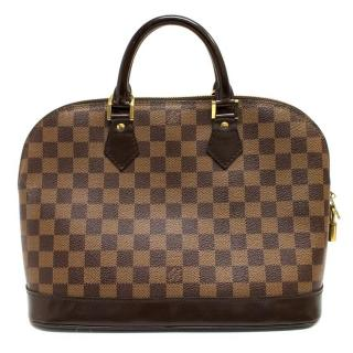 Louis Vuitton Alma MM Damier Canvas Handbag