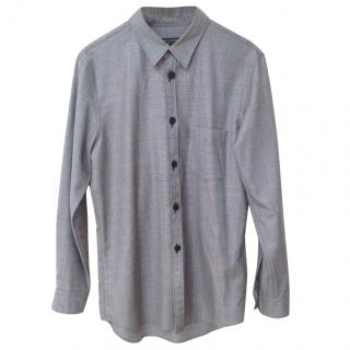 Comme De Garcon Homme Plus Grey Long Sleeved Shirt with Rubber Buttons