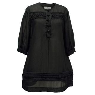 By Malene Birger Black Sheer Tunic