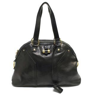 Yves Saint Laurent Black Leather Muse Bag