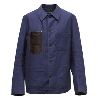 Junya Watanabe Comme des Garcons Navy Button Up Jacket