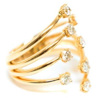 Bespoke Rose Gold Diamond Stacked Prong Ring