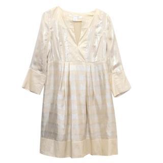 Diane Von Furstenberg Gold Tunic Dress