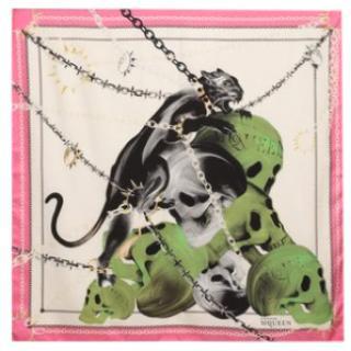 Alexander McQueen 100% silk scarf 140x140cm