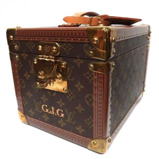 LOUIS VUITTON Vintage Boite Flacons Vanity Beauty Trunk Train Case