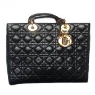 Dior Large Lady Dior Black Bag