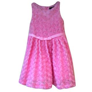 David Charles pink rose detailed dress (age 2 years)