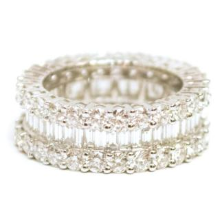 Bespoke White Gold Baguette and Diamond Ring