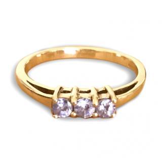9ct Gold Tanzanite Trilogy Ring