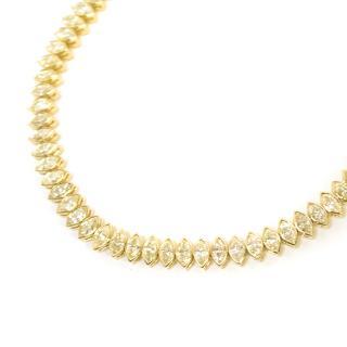 Bespoke Yellow Gold Marquise Diamond Bracelet