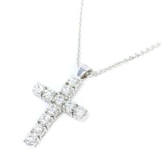 Bespoke White Gold Diamond Cross Necklace
