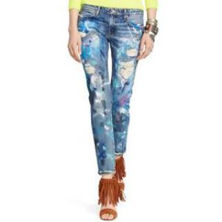 POLO Ralph Lauren distressed slim boyfriend jeans