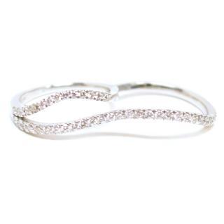 Bespoke White Gold Diamond 2 Finger Ring