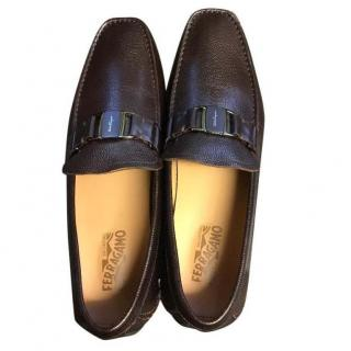 Ferragamo Brown Driving Shoes