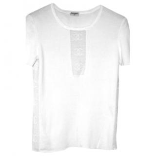 Immaculate Chanel White T-shirt Fr 36
