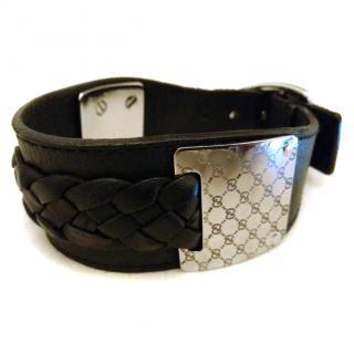 Gucci Men's Leather Cuff