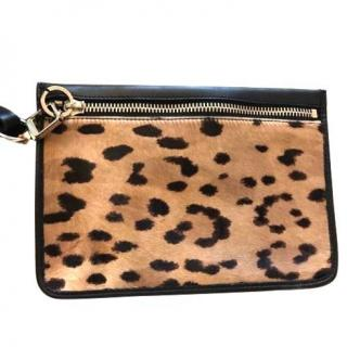 NEW Alexander Wang calf hair & leather clutch