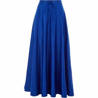 POLO RAPLPH LAUREN Drawcord Satin Maxi Skirt
