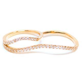 Bespoke Rose Gold Diamond 2 Finger Ring