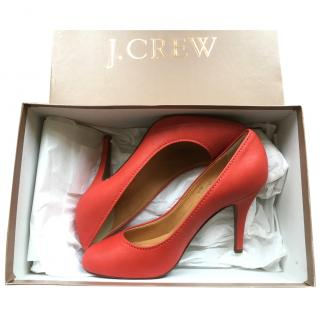 J Crew Red Heeled Pumps