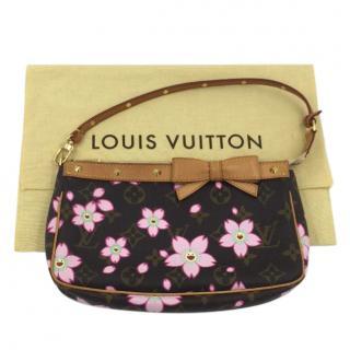 Louis Vuitton Monogram Cherry Blossom Pochette Bag Handbag Rare
