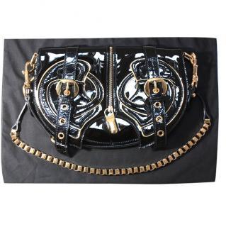 Alexander  McQueen Black Patent Leather Bag