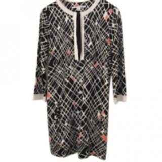 DVF Black Silk Jersey Tunic Dress